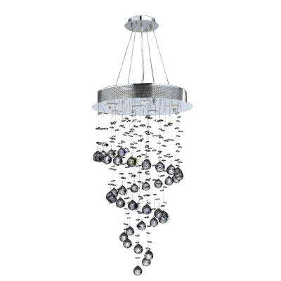 Helix 6-Light Chrome Clear Crystal Chandelier