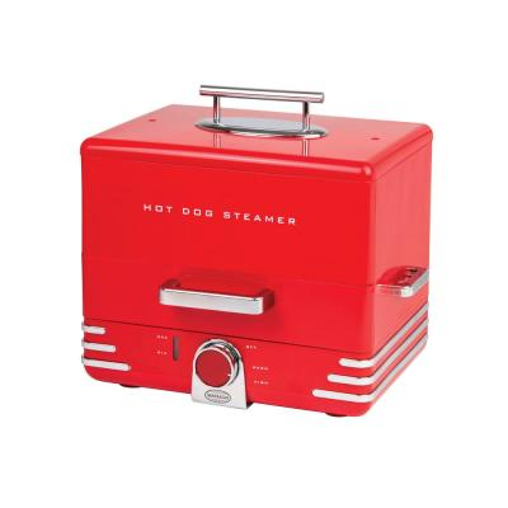 24-Hot Dog Dinner Style Red Hot Dog Steamer