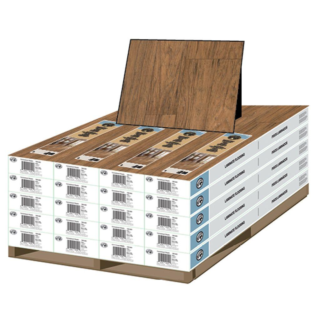 Hampton Bay Mainstreet Hickory 8 mm Thick x 7 1/2 in. W x 47 1/4 in. L Laminate Flooring (463.89 sq. ft./pallet)-DISCONTINUED
