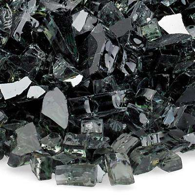 1/4 in. Black Reflective Fire Glass 10 lbs. Bag