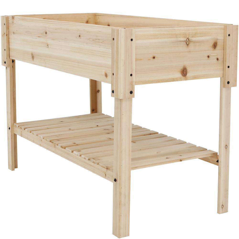 Raised Planters On Legs: Sunnydaze Decor 30 In. Raised Wood Garden Bed Planter Box