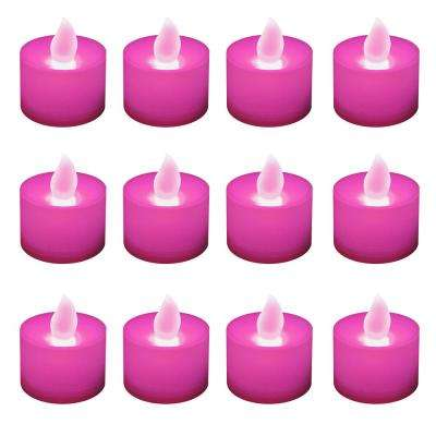 Pink LED Tealights (Box of 12)