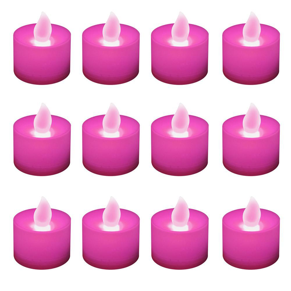 Pink LED Tealights (Box of 12)