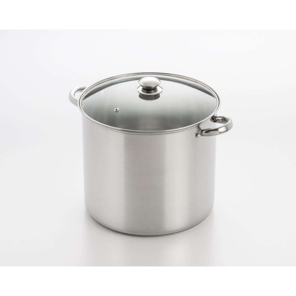 12 Qt. Stainless Steel Stock Pot with Encapsulated Base and Lid