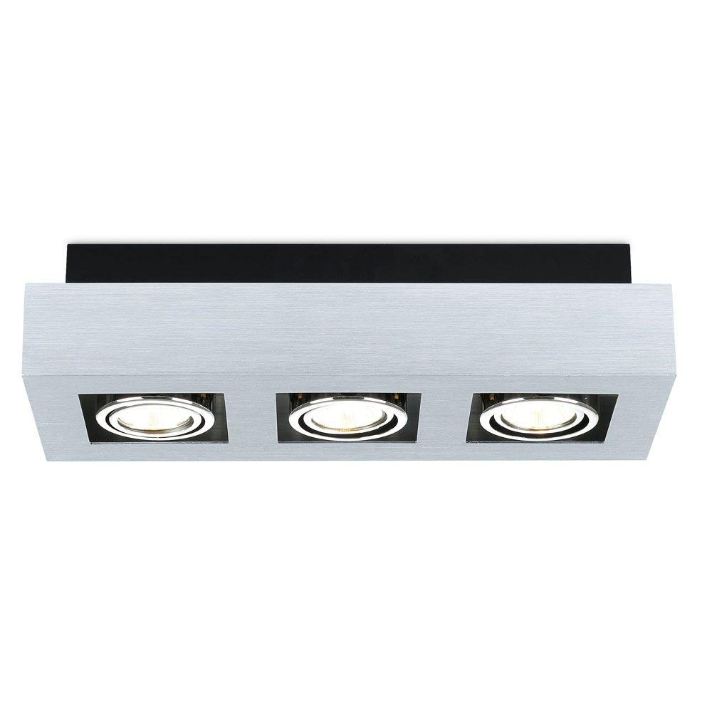 Eglo Loke 3 Light Brushed Aluminum Track Lighting