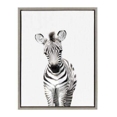 "Sylvie ""Animal Studio Zebra"" by Amy Peterson Framed Canvas Wall Art"