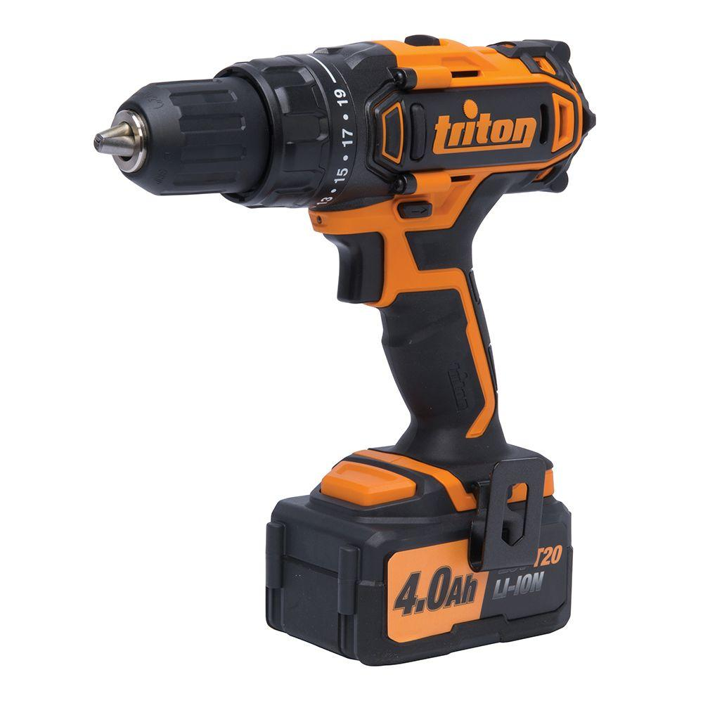Triton 20-Volt Lithium-Ion 1/2 in. Cordless Compact Drill...