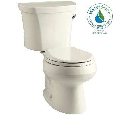Wellworth 14 in. Rough-In 2-piece 1.28 GPF Single Flush Round Toilet in Biscuit