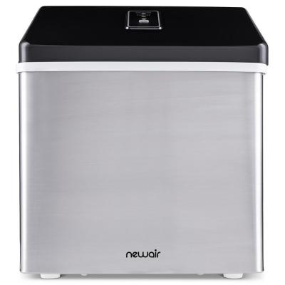 Portable 40 lb. of Ice a Day Countertop Clear Ice Maker BPA Free Parts Perfect for Cocktails and Soda - Stainless Steel