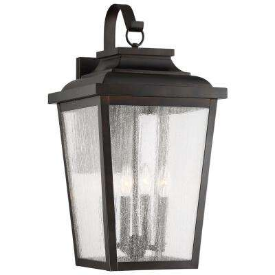 Irvington Manor 4-Light Chelesa Bronze Outdoor Wall Mount Lantern