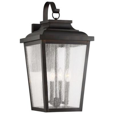 Irvington Manor 4-Light Chelesa Bronze Outdoor Wall Lantern Sconce