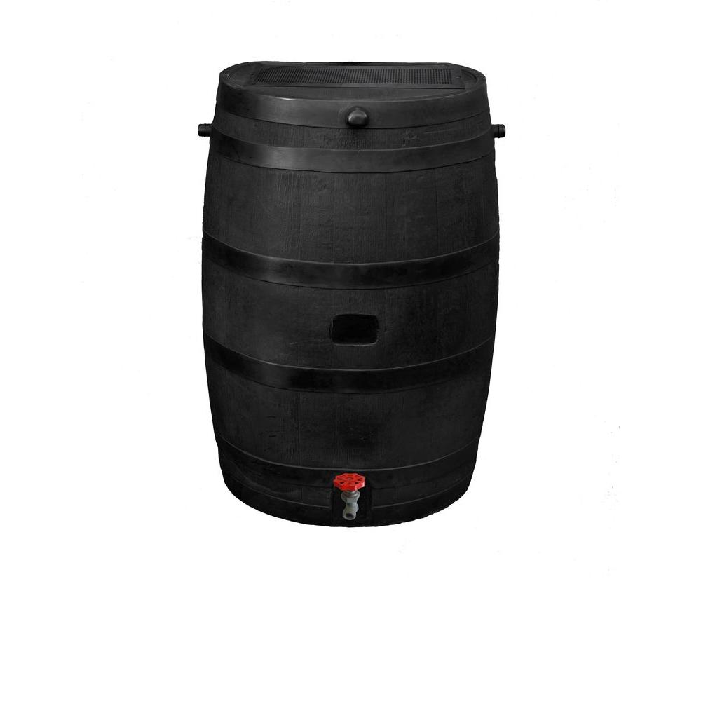 RTS Home Accents 50 Gal. Eco Rain Barrel with Plastic Spigot