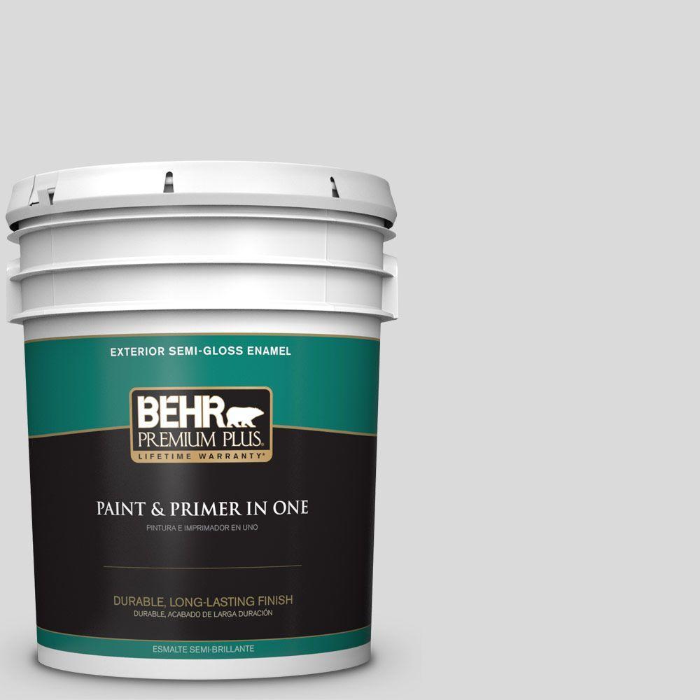 BEHR Premium Plus 5-gal. #790E-1 Subtle Touch Semi-Gloss Enamel Exterior Paint
