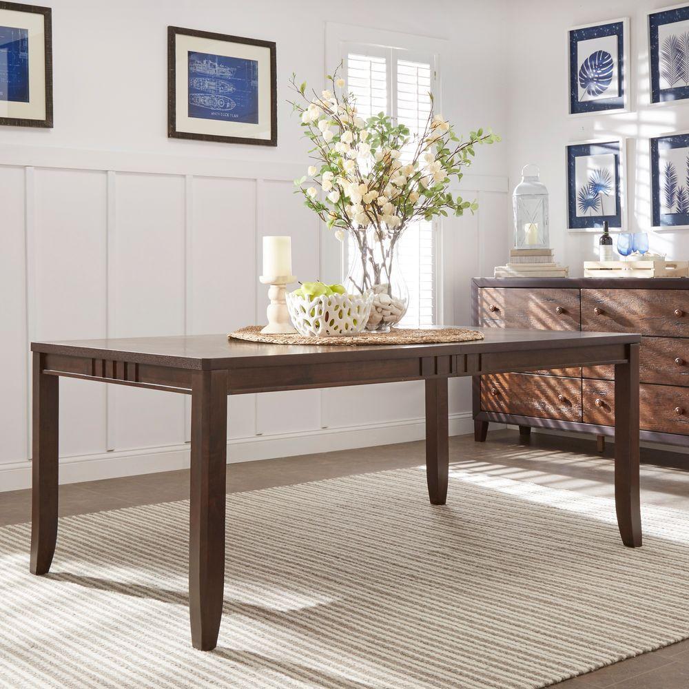 Mark Ridge Dark Cherry Extendable Dining Table