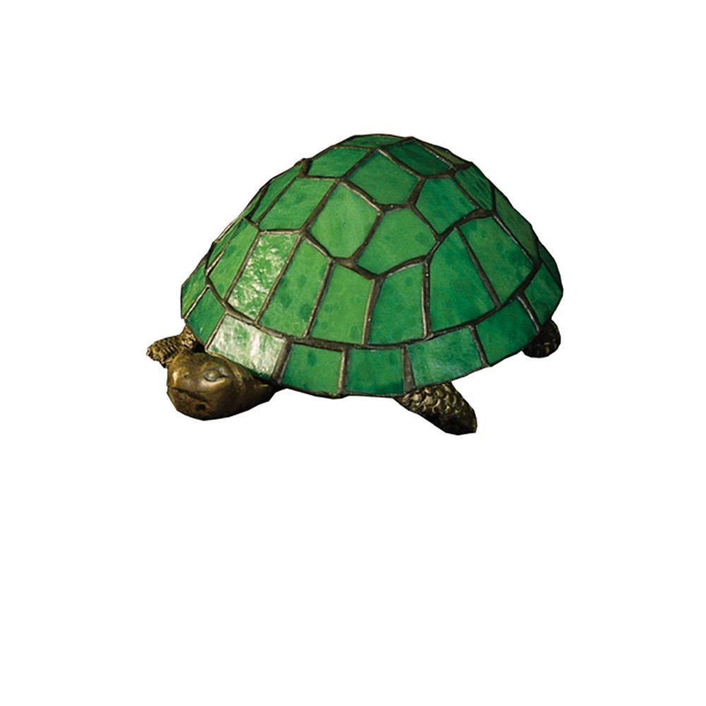 Illumine 1 Light Turtle Tiffany Glass Accent Lamp
