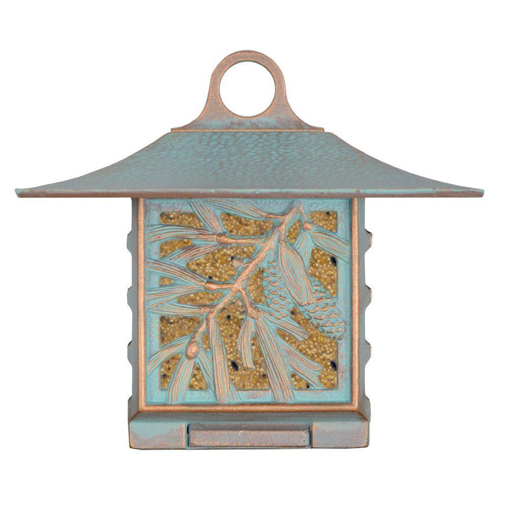 Pinecone Artisan Copper Verdi Suet Bird Feeder
