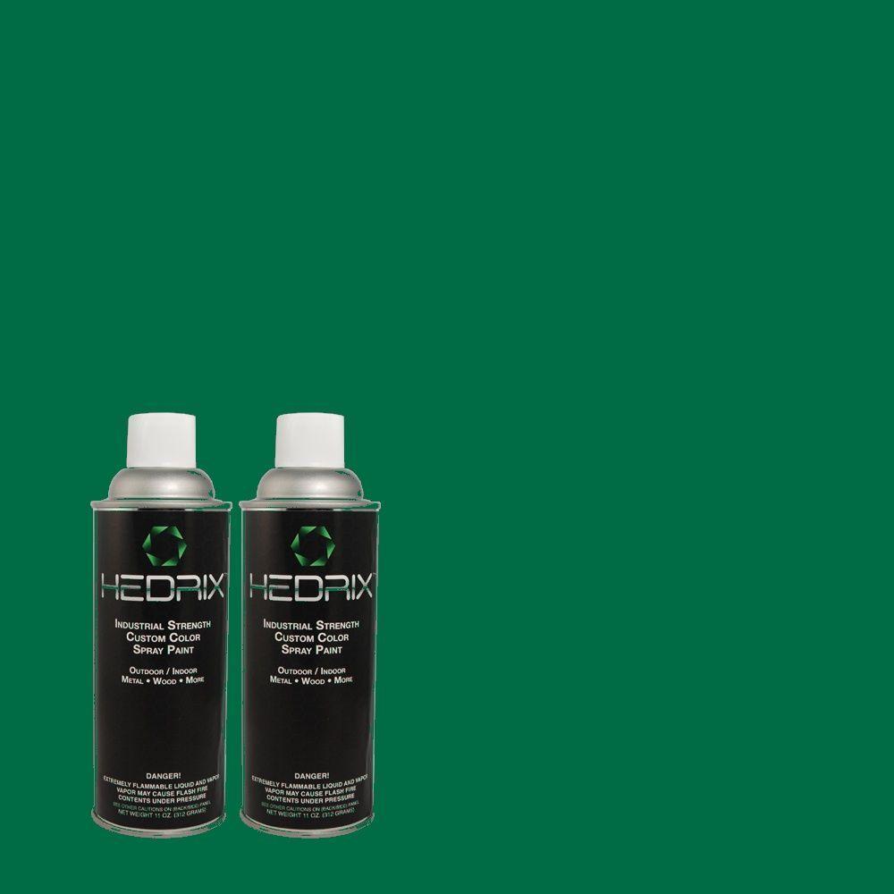 Hedrix 11 oz. Match of 480B-7 Clover Brook Flat Custom Spray Paint (2-Pack)
