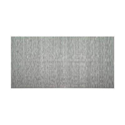 Ripple Vertical 96 in. x 48 in. Decorative Wall Panel in Argent Silver