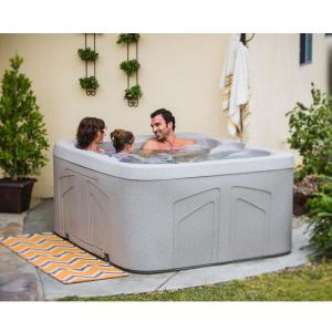 Lifesmart Bermuda DLX LS100DX 4-Person 20-Jet Plug & Play Spa (Sandbar)