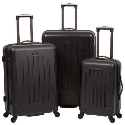 Black - Lincoln Park Lightweight Hardside ABS 3-Piece 20 in./25 in./29 in. 4-Wheel Upright Luggage Set
