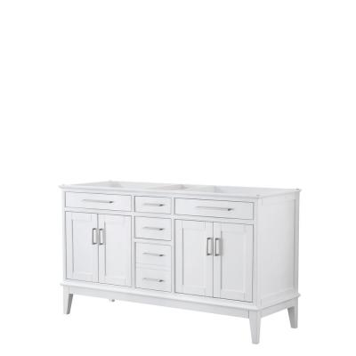 Margate 59 in. W x 21.5 in. D Bath Vanity Cabinet Only in White