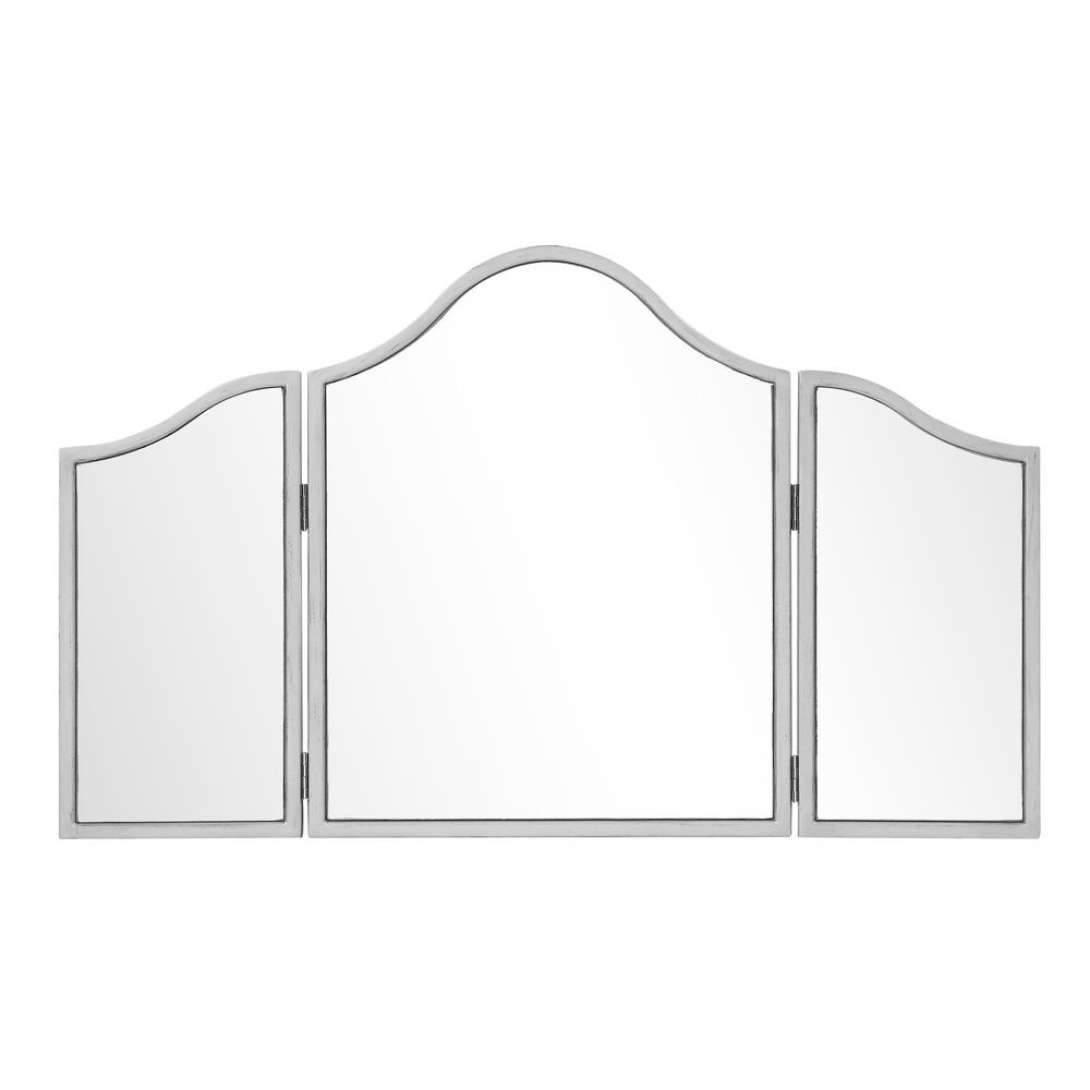 Gila Chamberlan 39 in. Contemporary Mirror with Silver Paint MDF ...