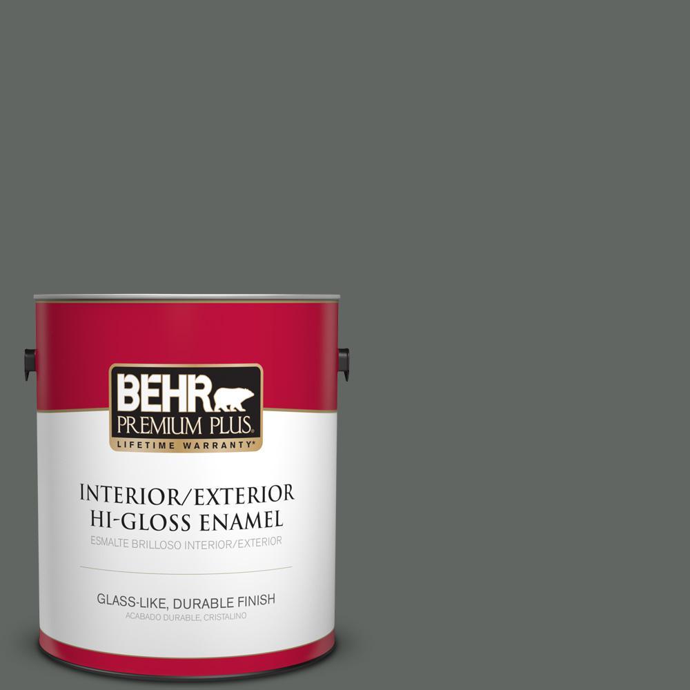 1 gal. #PPU25-02 Black Locust Hi-Gloss Enamel Interior/Exterior Paint