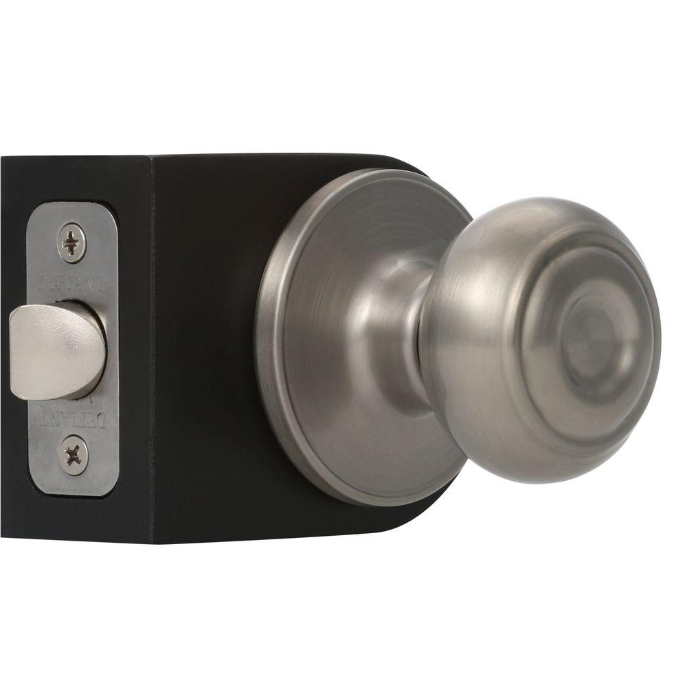 defiant hartford satin nickel passage hallcloset door knob door knobs85 door