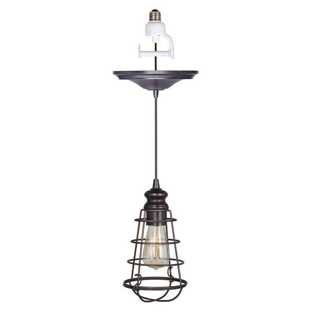 Home decorators collection cage 1 light brushed bronze pendant home decorators collection cage 1 light brushed bronze pendant conversion kit 1879900280 the home depot arubaitofo Choice Image
