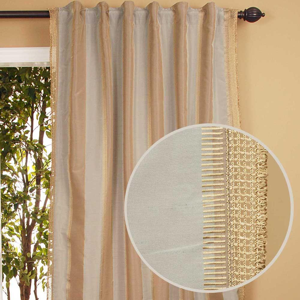 Home Decorators Collection Sheer Roshni Blue Back Tab Curtain