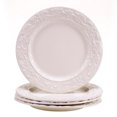 Firenze Ivory 11.5 in. Dinner Plate (Set of 4)