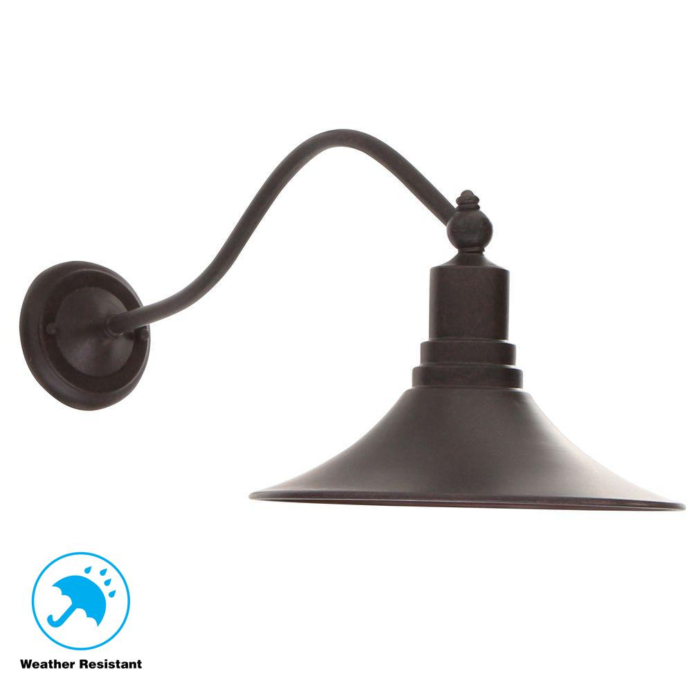 World Imports Dark Sky Revere Collection Wall-Mount Outdoor Bronze Lantern
