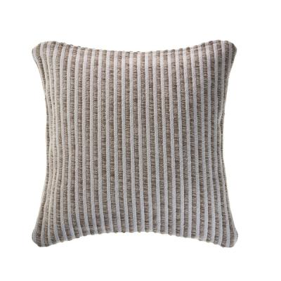 Kind Beige / Cream Striped 22 in. x 22 in. Cotton Throw Pillow