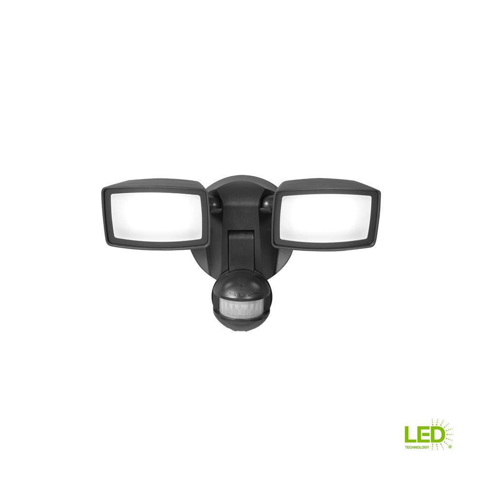 180-Degree Bronze Dual-Position Motion Activated Sensor Outdoor Integrated LED