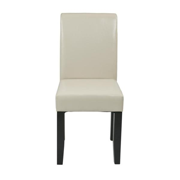 OSP Home Furnishings Cream Eco Leather Parsons Dining Chair