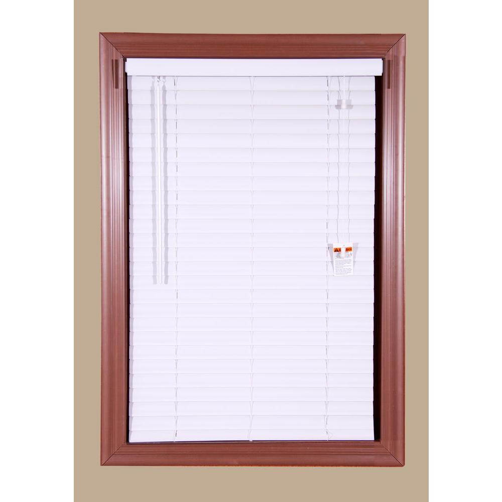 Bali Grab-n-Go Frost White 2 in. Vinyl Mini Blind - 72 in. W x 64 in. L
