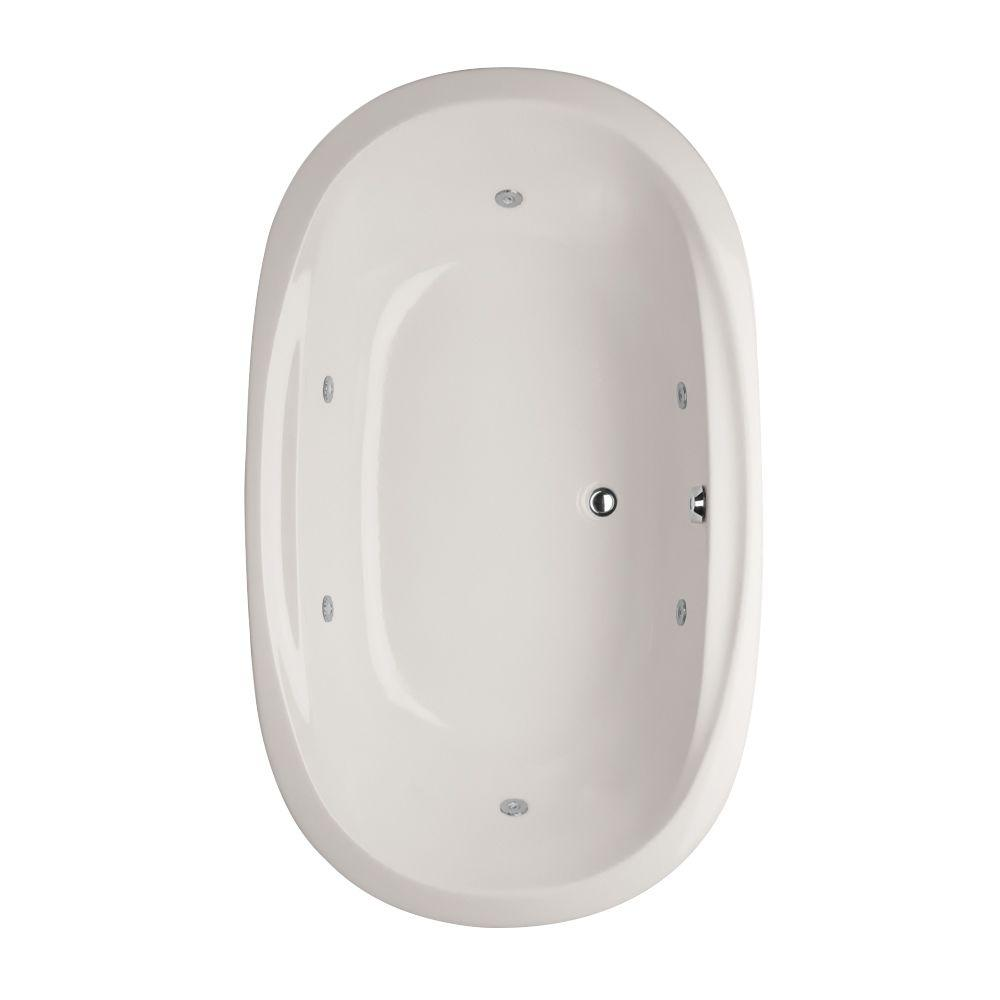 Hydro Systems Studio Dual Oval 6.2 ft. Reversible Drain Whirlpool ...