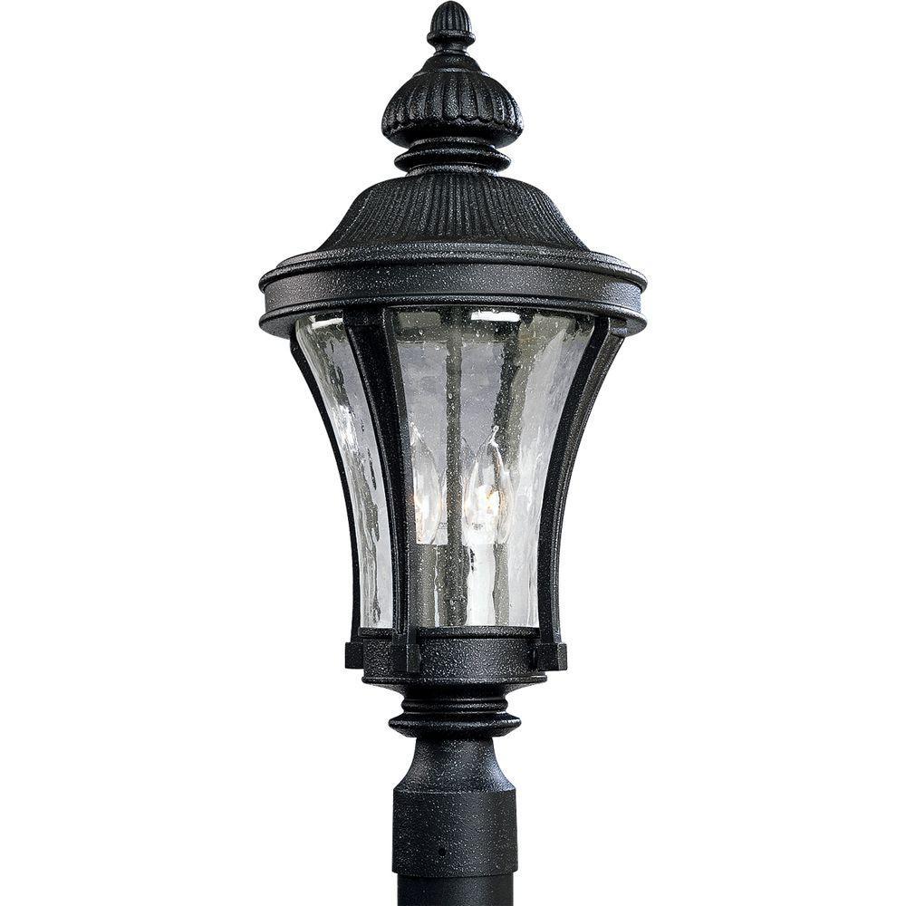 Nottington Collection 3-Light Outdoor Gilded Iron Post Lantern