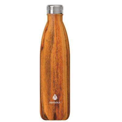 Vogue 25 oz. Woodgrain Stainless Steel Vacuum Bottle