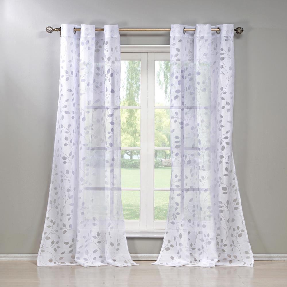 Welwyn 38 in. W x 84 in. L Polyester Window Panel in White