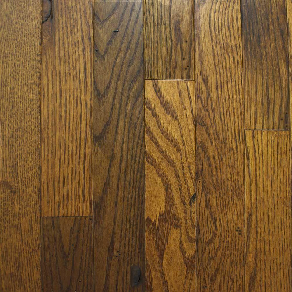 Heritage Mill Red Oak Old World Brown 3/4 in. Thick x 4 in. W x Random L Solid Hardwood Flooring (21 sq. ft. / case)-DISCONTINUED