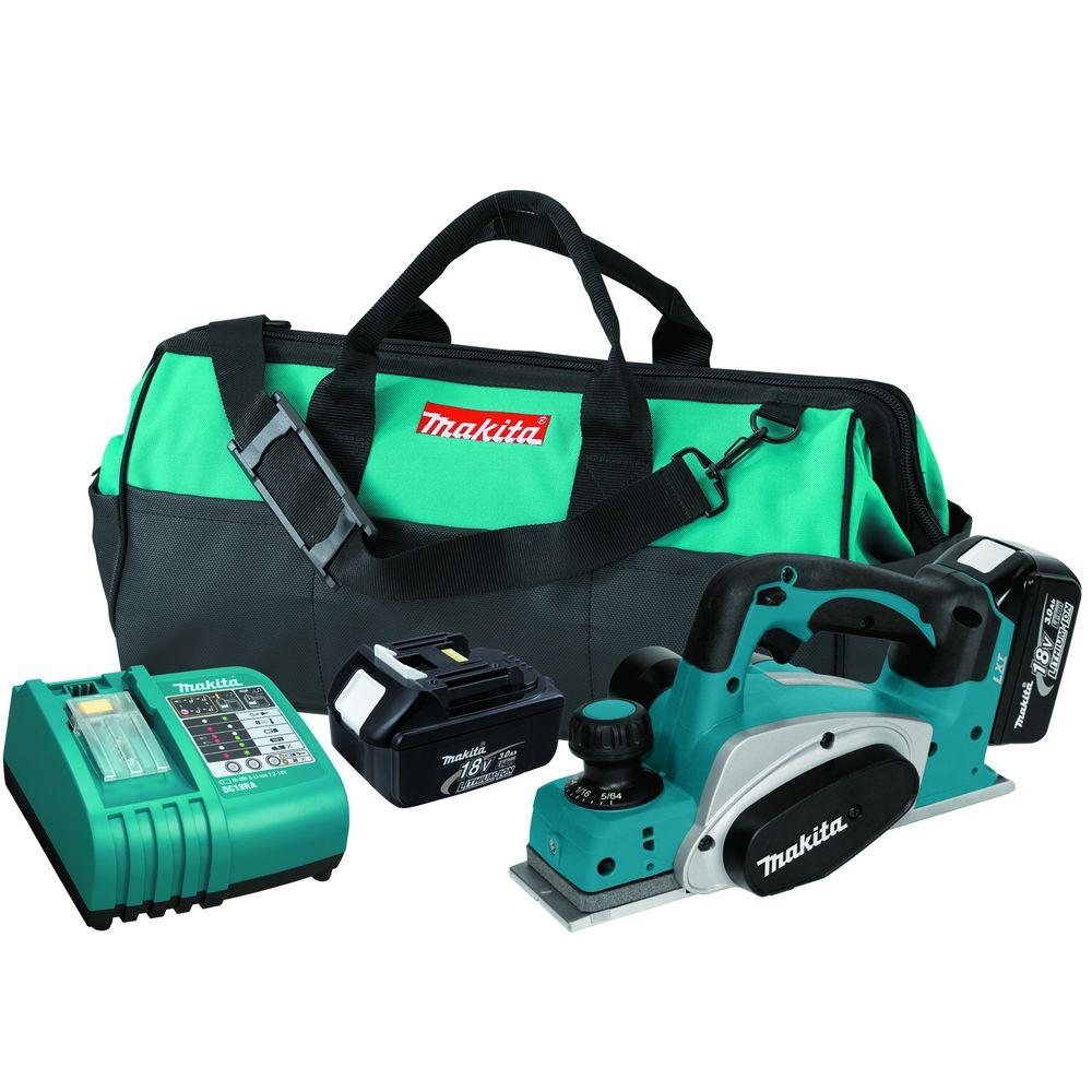Makita 18-Volt LXT Lithium-Ion 3-1/4 in. Cordless Planer Kit
