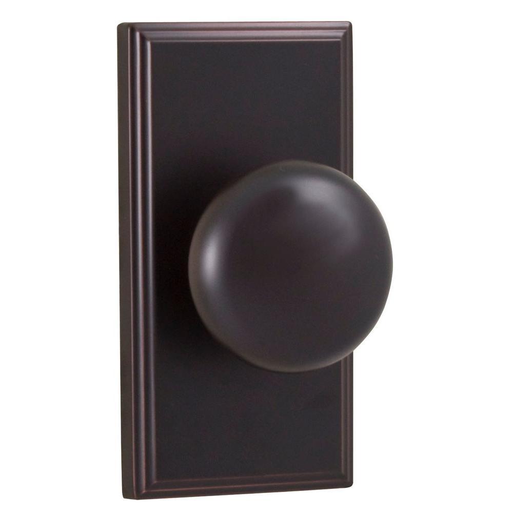 Elegance Oil-Rubbed Bronze Woodward Passage Impresa Knob