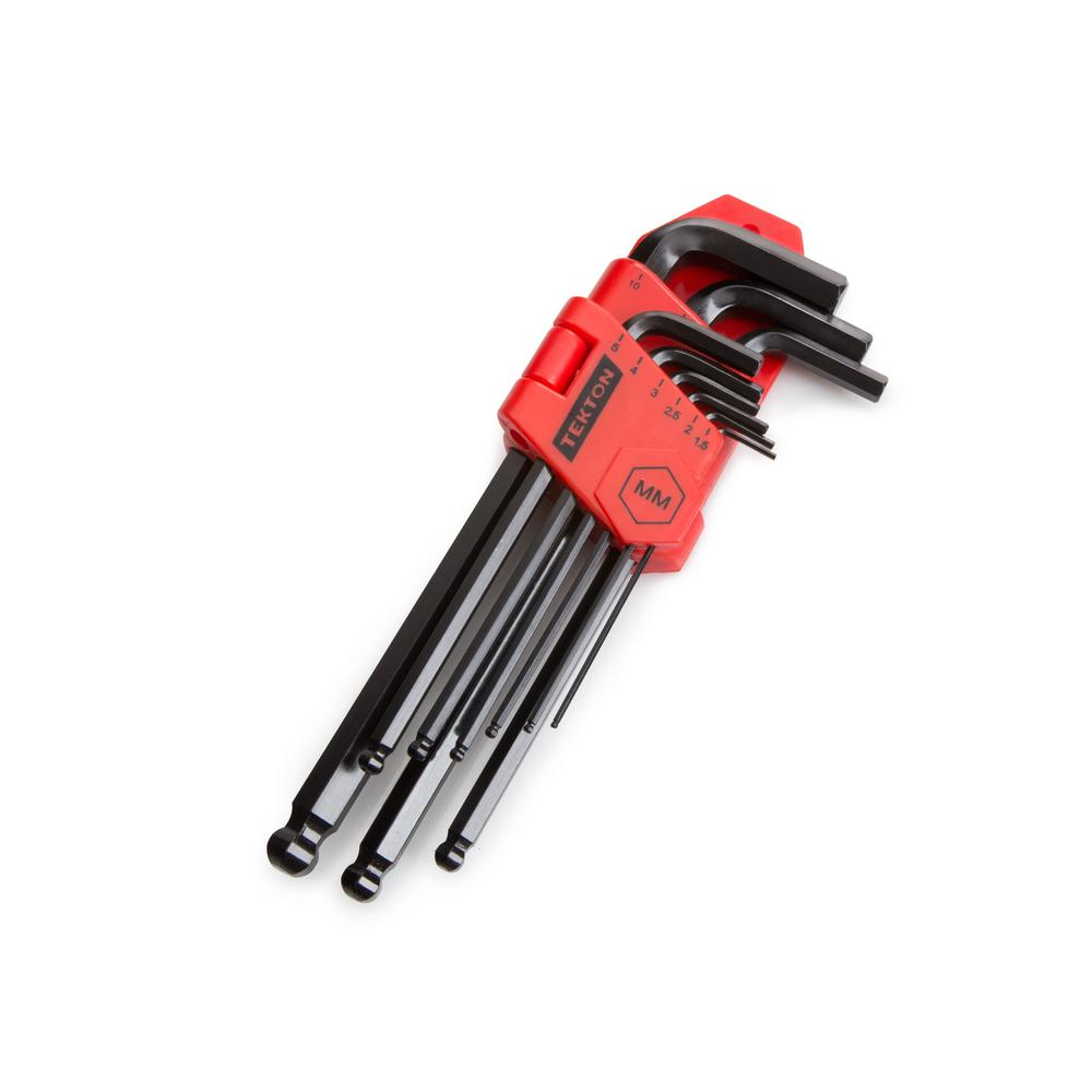 tekton 1 5 10 mm long arm ball end hex key wrench set 9 piece 25271 the home depot. Black Bedroom Furniture Sets. Home Design Ideas