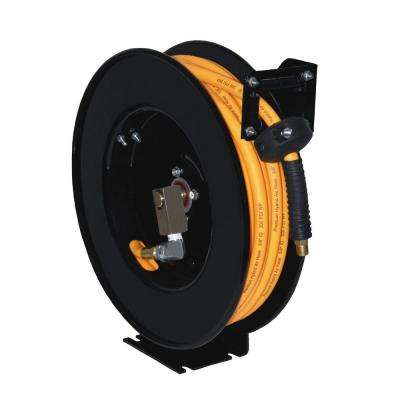 50 in. x 3/8 in. Hose Reel with Diamond Flex Hose, Black/Orange