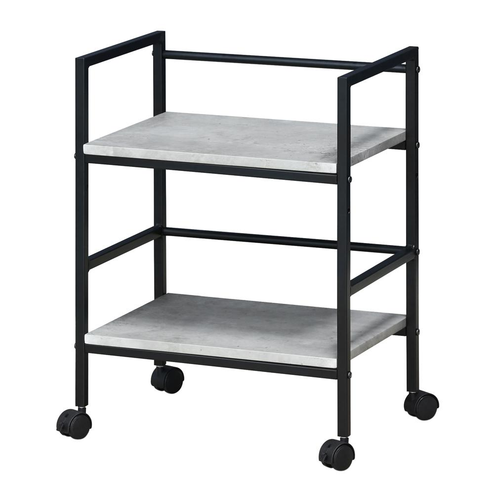 Furinno Modern MDF 4 Wheeled Storage Cart In Stone