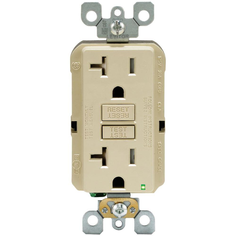 Leviton 20 Amp 125-Volt Duplex SmarTest Self-Test SmartlockPro ...