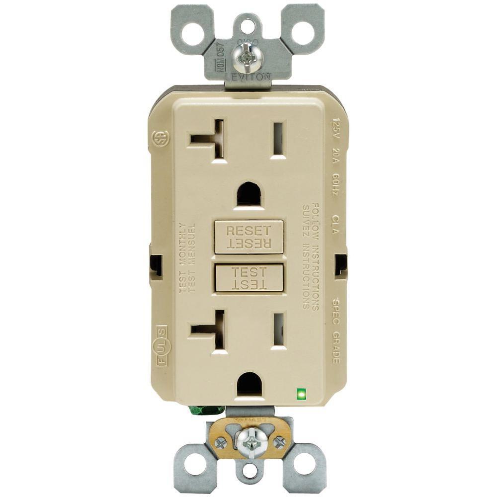 ivory leviton outlets receptacles r91 gftr2 0ki 64_1000 leviton 20 amp 125 volt duplex smartest self test smartlockpro Leviton 20 Amp GFCI at reclaimingppi.co