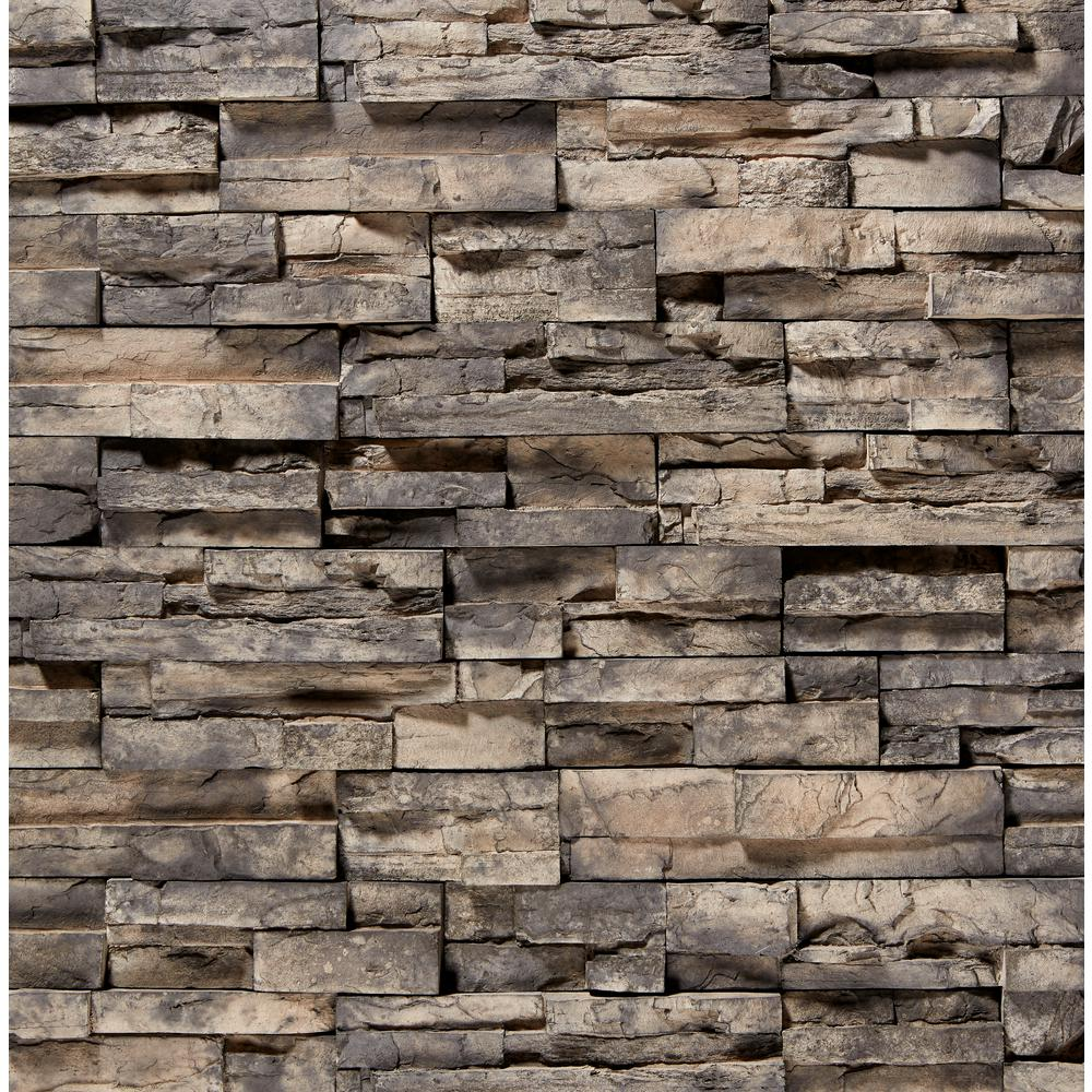 Stacked Stone Home Exterior: ClipStone 12 In. X 2.5 In. Manufactured Stone Prostack Ash