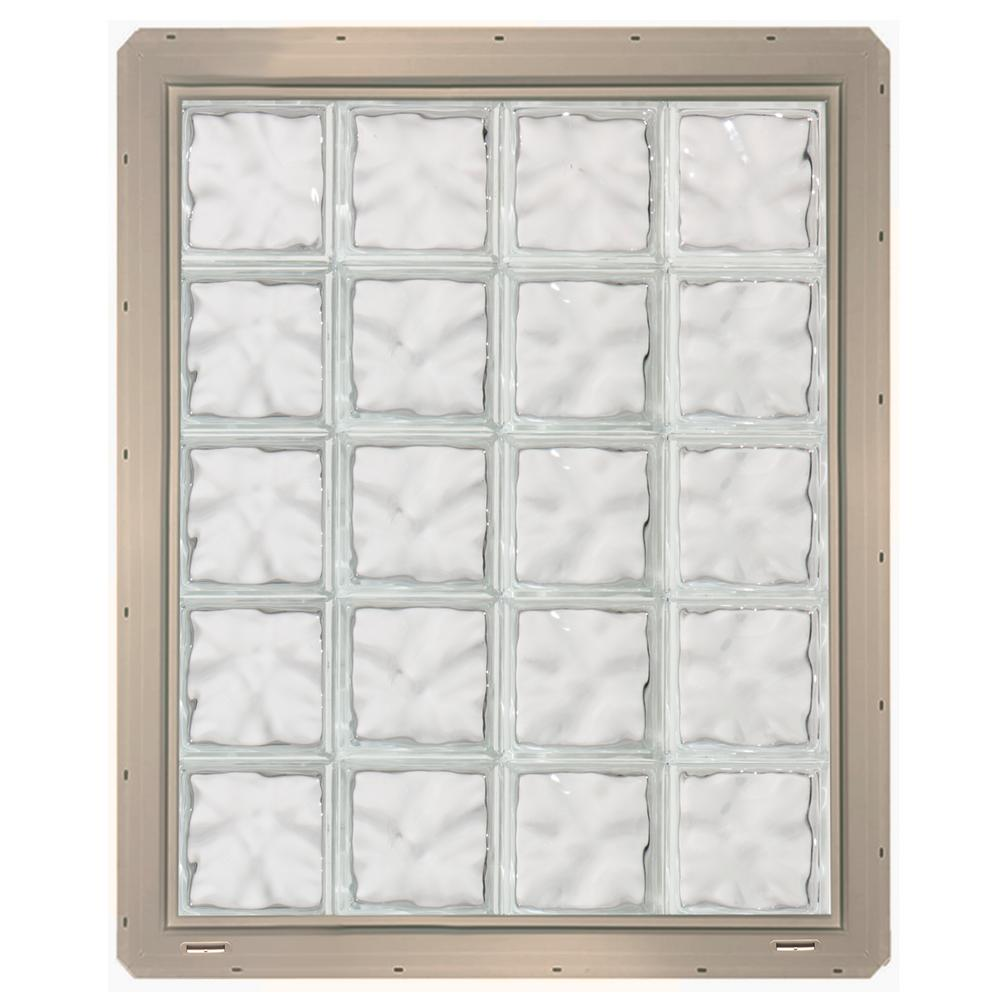 Wave Pattern Gl Block Window With Clay Colored Vinyl Nailing Fin